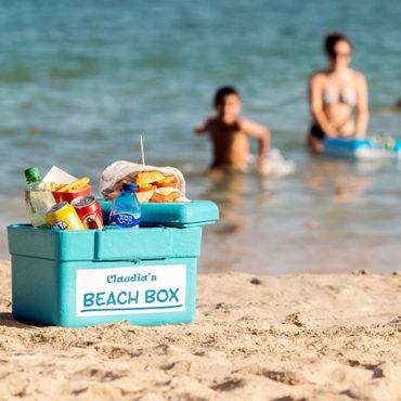 In Claudias Cafeteria in Porto Cristo werden Beach Boxen für die Zeit am Strand vermietet.