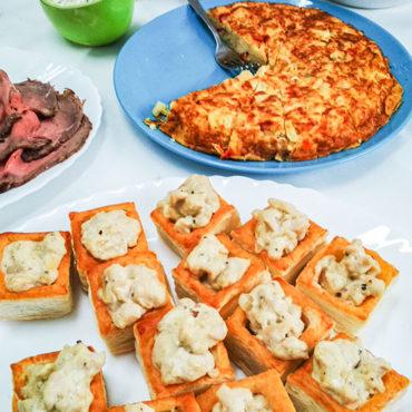 Ragout fin-Pasteten und Tortilla